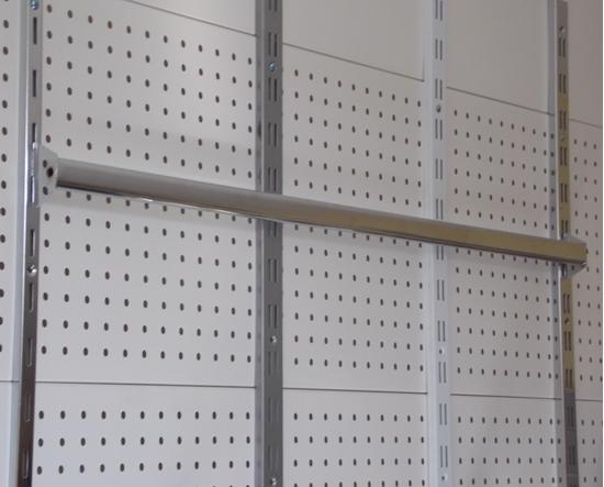 Зображення Перемичка в стійку овальна труба хром