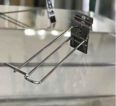Зображення Гачок в економпанель з цінникотримачем подвійний 150мм