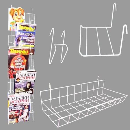 Изображение для категории Крючки, кронштейны,полки, корзины на сетку