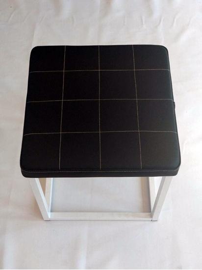 Зображення Пуфік квадратний металевий