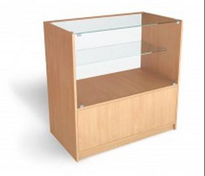 Изображение Прилавок-витрина торговый остекленный 1/2 900*900*500