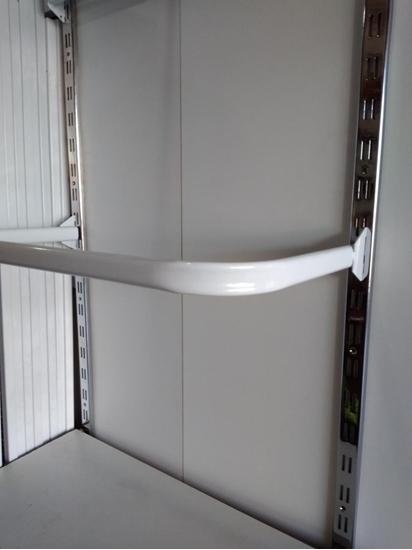 Зображення Дуга в стійку овальна труба біла