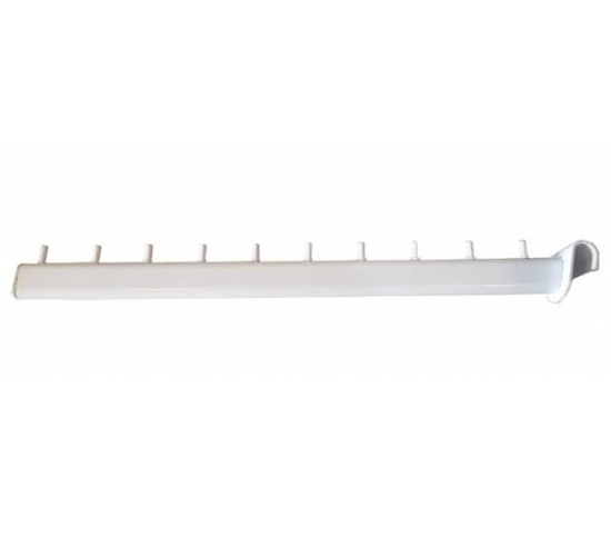 Зображення Кронштейн флейта овальна на перемичку 45 см біла