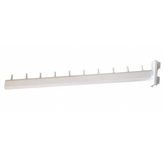 Зображення Кронштейн флейта овальна труба в стійку біла