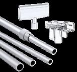 Зображення для категорії Трубки і Т-тримачі для пластикових рамок