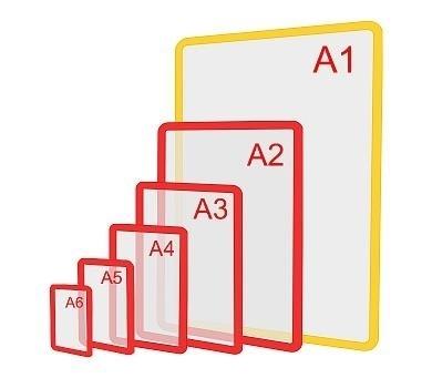Изображение Пластиковая рамка формата А1