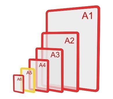 Изображение Пластиковая рамка формата А5
