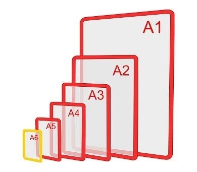 Изображение Пластиковая рамка формата А6