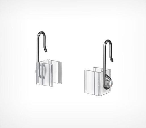 Зображення Гачок з металевим рухомою основою для підвішування пластикових рамок MF-CLIP