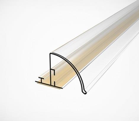 Изображение Закругленный полочный профиль высотой 30 мм