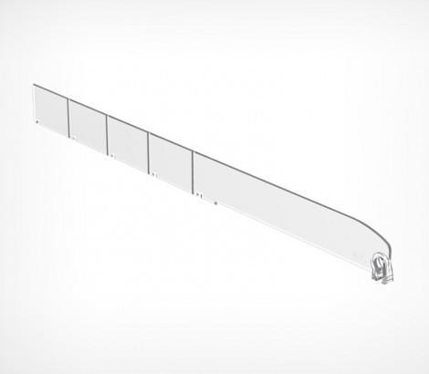 Зображення Пластиковий роздільник обламуваний висотою 30 мм без обмежувача DIV30-B