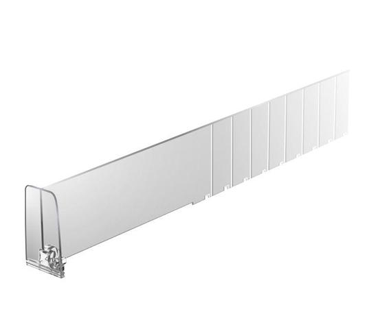 Зображення Пластиковий роздільник обламуваний висотою 60 мм з переднім обмежувачем 60 мм DIV60-BT60