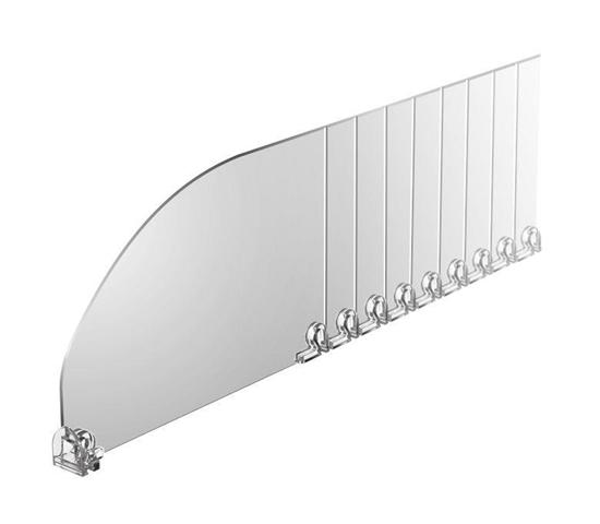 Зображення Пластиковий роздільник обламуваний висотою 120 мм без обмежувача DIV120-B