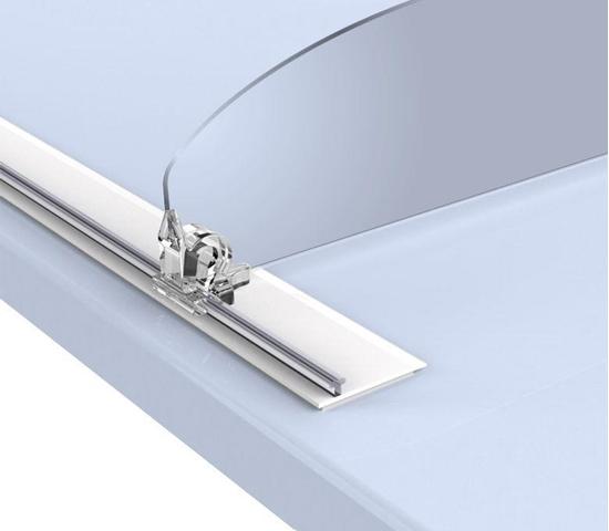 Зображення Широкий пластиковий Т-профіль для кріплення роздільників на полиці T-RAIL30-TF з спіненим скотчем