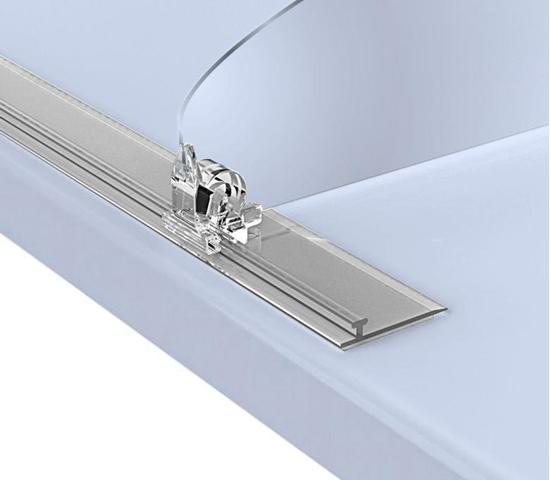 Зображення Широкий пластиковий Т-профіль для кріплення роздільників на полиці T-RAIL30-TM з магнітним скотчем