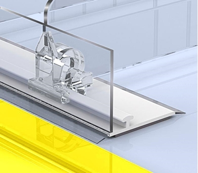 Зображення Передній обмежувач висотою 30 мм з Т-профілем L-RAIL30-TM з магнітним скотчем